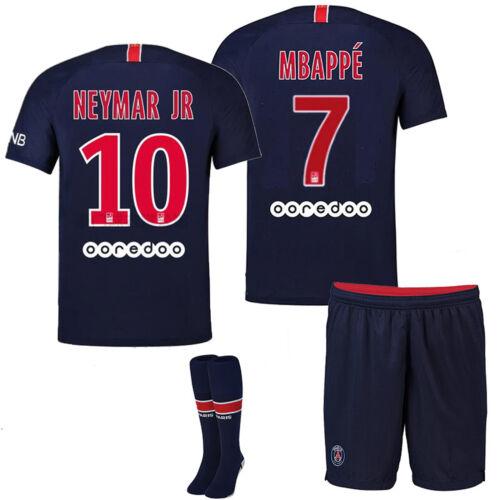18//19 Football Kits Jersey Sportswear Soccer Shirts For Kids Adults Suits+Socks