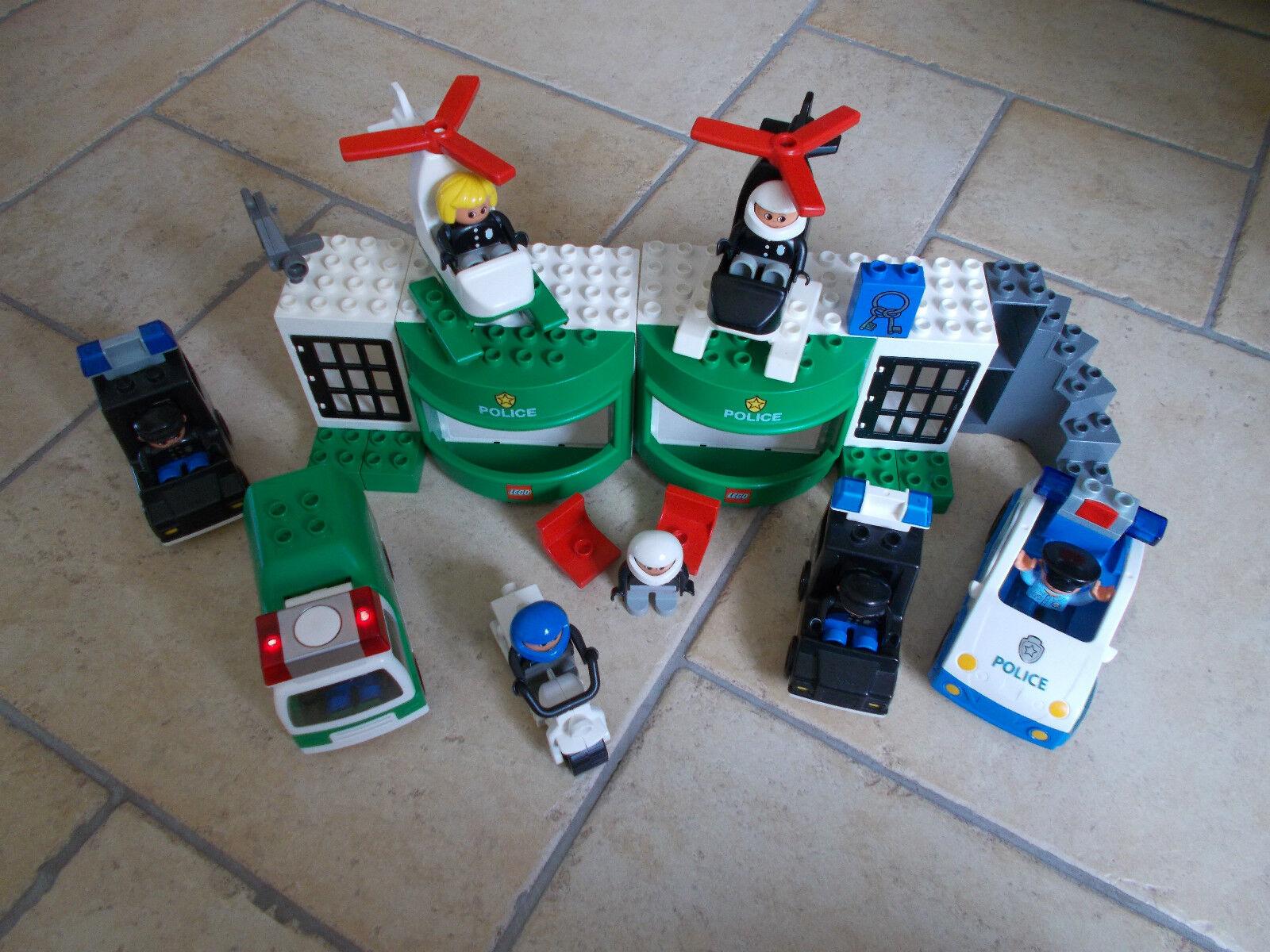 Lego® Duplo Polizei - Set mit ältere Station   Wache + viele Autos