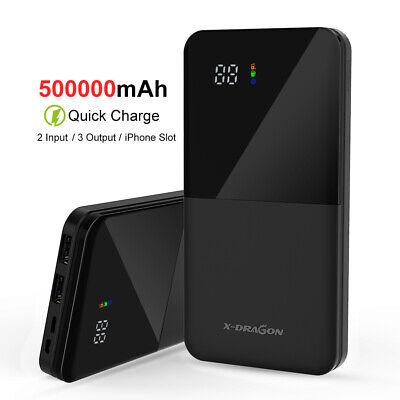 LCD 500000mAh Power Bank Zusatzakku Batterie Ladegeräte 2USB für alle Handys DE | eBay