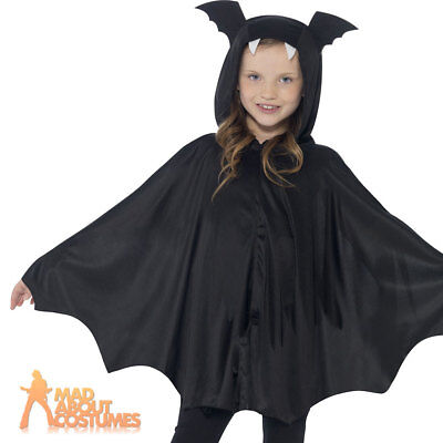 Child Bat Wings Cape Halloween Costume Boys Girls Kids Vampire Fancy Dress