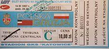 mint TICKET blue 14.6.1997 Polska Polen - Georgien