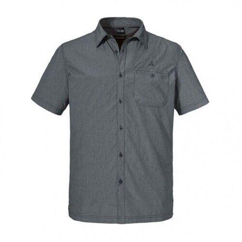 Schöffel Bregenzerwald Herren Funktionshemd Herren grau Outdoor Hemd Outdoorhemd
