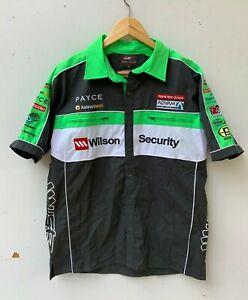 WILSON-SECURITY-V8-SUPERCARS-men-039-s-short-sleeve-shirt-size-M