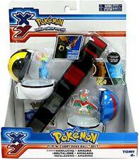 Pokemon XY Clip 'n' Carry Poke Ball Belt #3 Roleplay Toy Hawlucha & Amaura
