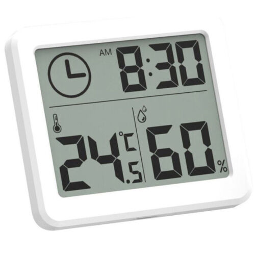 """Electronic 3.2/"""" LCD Hygrometer Clock Humidity Thermometer Temperature ASS"""