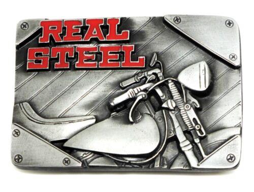 Biker Belt Buckle Real Steel 3D Motorcycle Bike Authentic C /& J Buckles Product