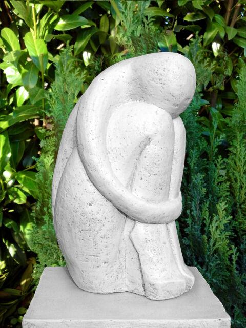 Steinfigur Single Skulptur Moderne Gartendeko Gartenfigur Dekofigur Statue