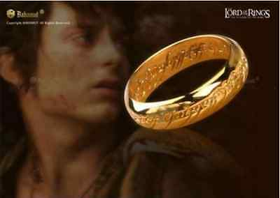 Vintage stylish copper Ring Film The Lord of the Rings gold Plated Hot Celtic