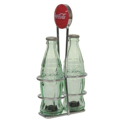 TableCraft Coca-Cola Coke Bottle Salt /& Pepper Shakers with Rack