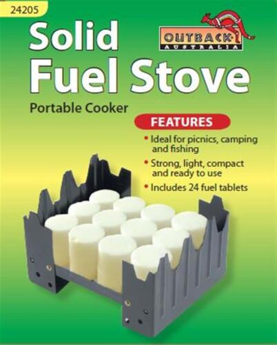 Hexamine Solid Fuel Tablet Compact Stove Backpacker Boating Camping Fishing