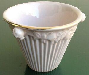 Piccolo-vaso-cachepot-vintage-Ivos-Pacetti-Albissola-decoro-color-rosa-melograni