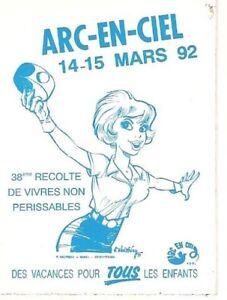 WALTHERY: NATACHA. ARC-EN-CIEL MARS 92 Autocollant
