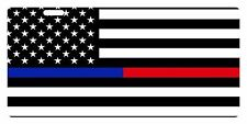 Law Enforcement FIREFIGHTER USA Flag Custom License Plate Thin Blue Line Police