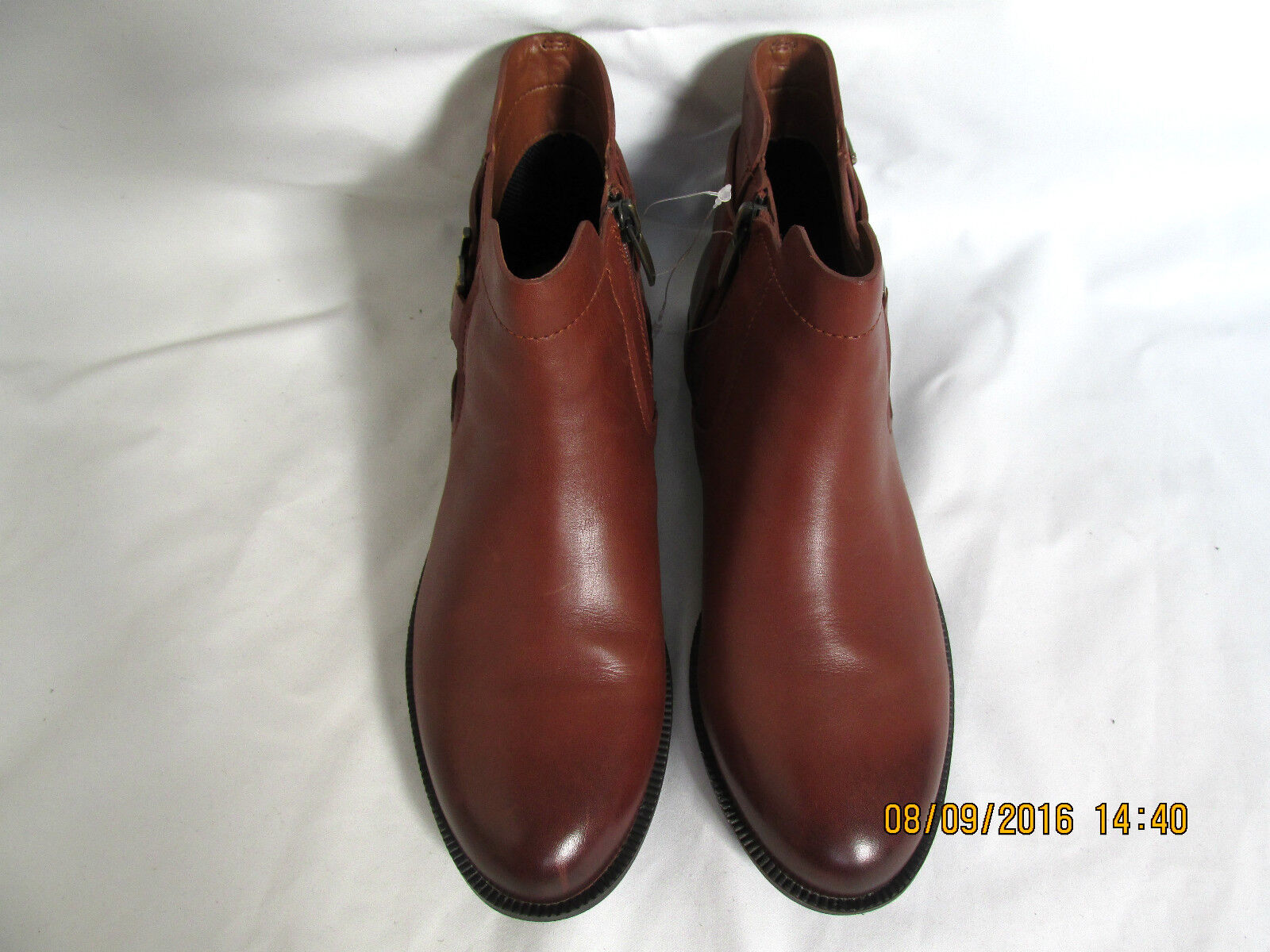 NEW Clarks Womens Leather Chelsea Boots TAN Brown MINT JAM GORETEX Ankle boots