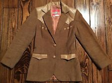 VIntage Ms. Pioneer Anywhere Anytime Western Corduroy Leather Jacket Blazer Sz.6