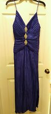 vtg 70s ROYAL PURPLE sequin  evening dress George F. Couture NY