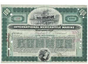 Stock-Certificate-Titanic-J-P-Morgan-International-Mercantile-Marine-Company