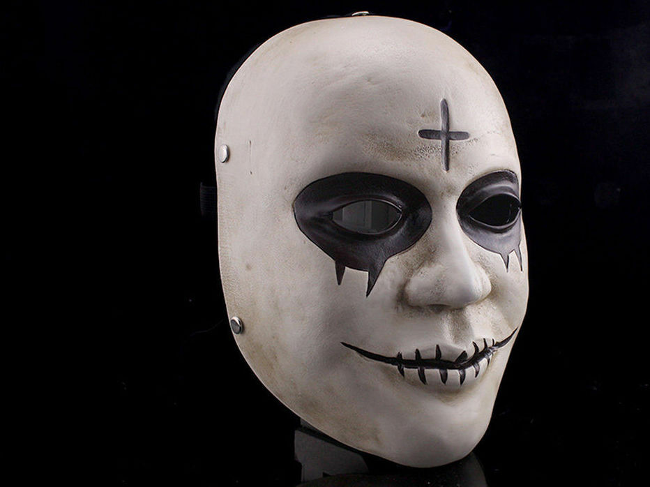 THE PURGE 2 COSTUME HORROR FANCY DRESS MASK ADULT COSPLAY ANARCHY RESIN GOD