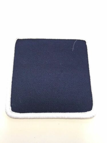 "Lot of 12 Blank 3/"" X 3/"" Cloth Patches Embroidered Patch Navy Blue White"