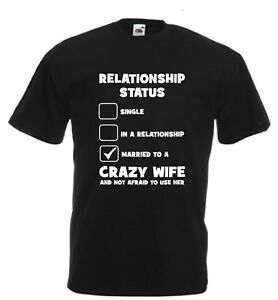Image Is Loading Relationship Status Wife Novelty Husband Xmas Birthday Gift