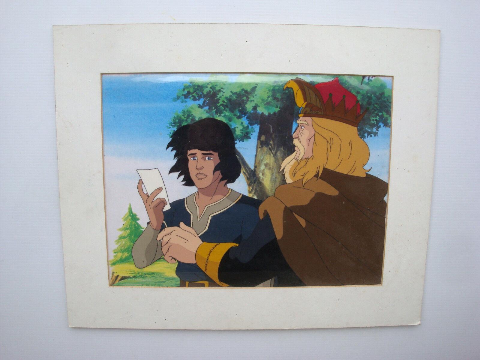 Cellulo dessin animé Prince vaillant épisode 7 original anime cel avec fond