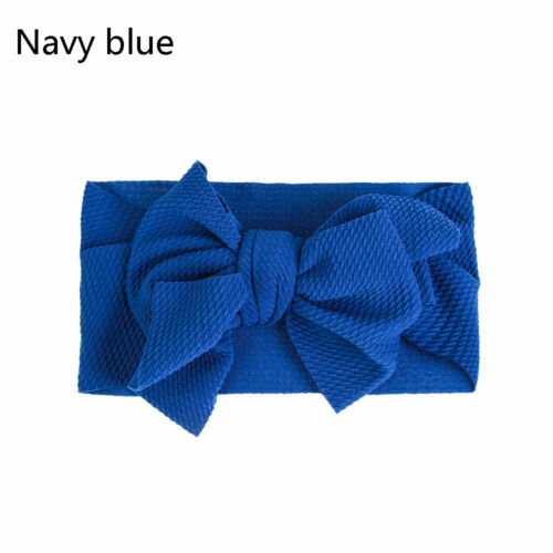 Baby Girls Headband Big Bow Knot Hairband Turban Head Band Newborn Headwrap New