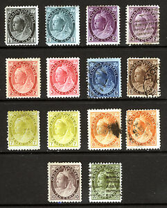 Canada-74-84-1898-1902-Queen-Victoria-Nice-Mint-amp-Used-Lot-14-items