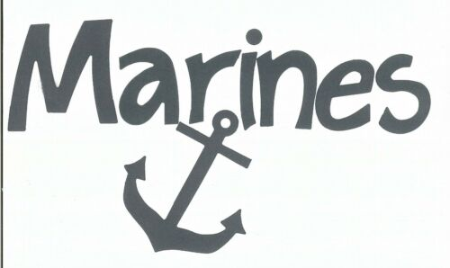 Your choice of Letter Styles on Marines Die Cuts - Dayco/AccuCut