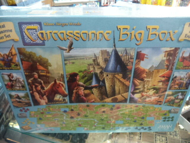 Carcassonne big box version-base de jeu avec l'Expansion Board Game Z-Man Games NEUF