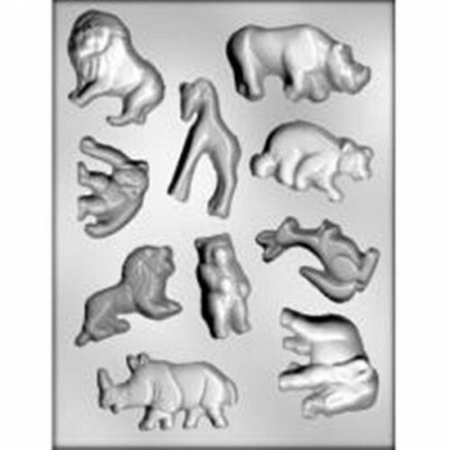 Jungle Animal CHOCOLATE Candy MOLD Lion Rhino Kangaroo Elephant Bear Monkey Zoo