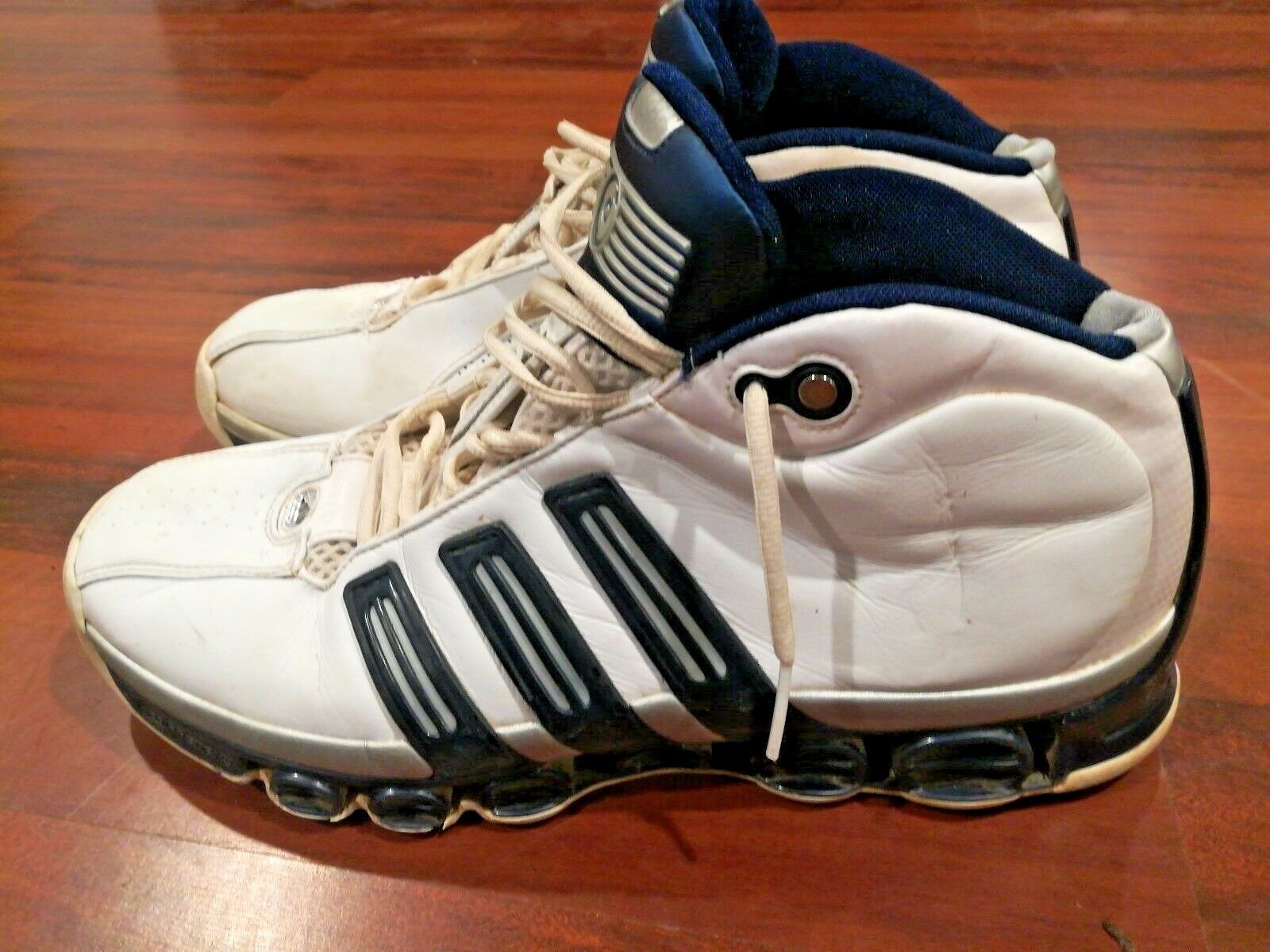 Adidas A3 Superstar Men's Basketball shoes bluee White Mid Top 2005 Size 13