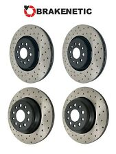 BRAKENETIC PREMIUM Drilled Slotted Brake Disc Rotors BPRS35995 FRONT + REAR
