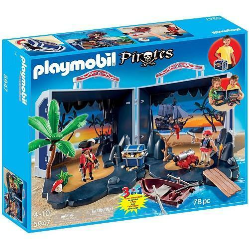 PLAYMOBIL 5947 Pirate Treasure Chest New sealed in box OOP