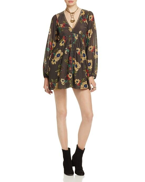 NWT Free People Strawberry Fields Floral Print Dress Retail