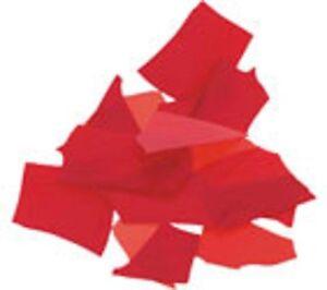 Uroboros COE 96 Confetti Red Fusible Opal Glass 43861 Full Jar 4 oz