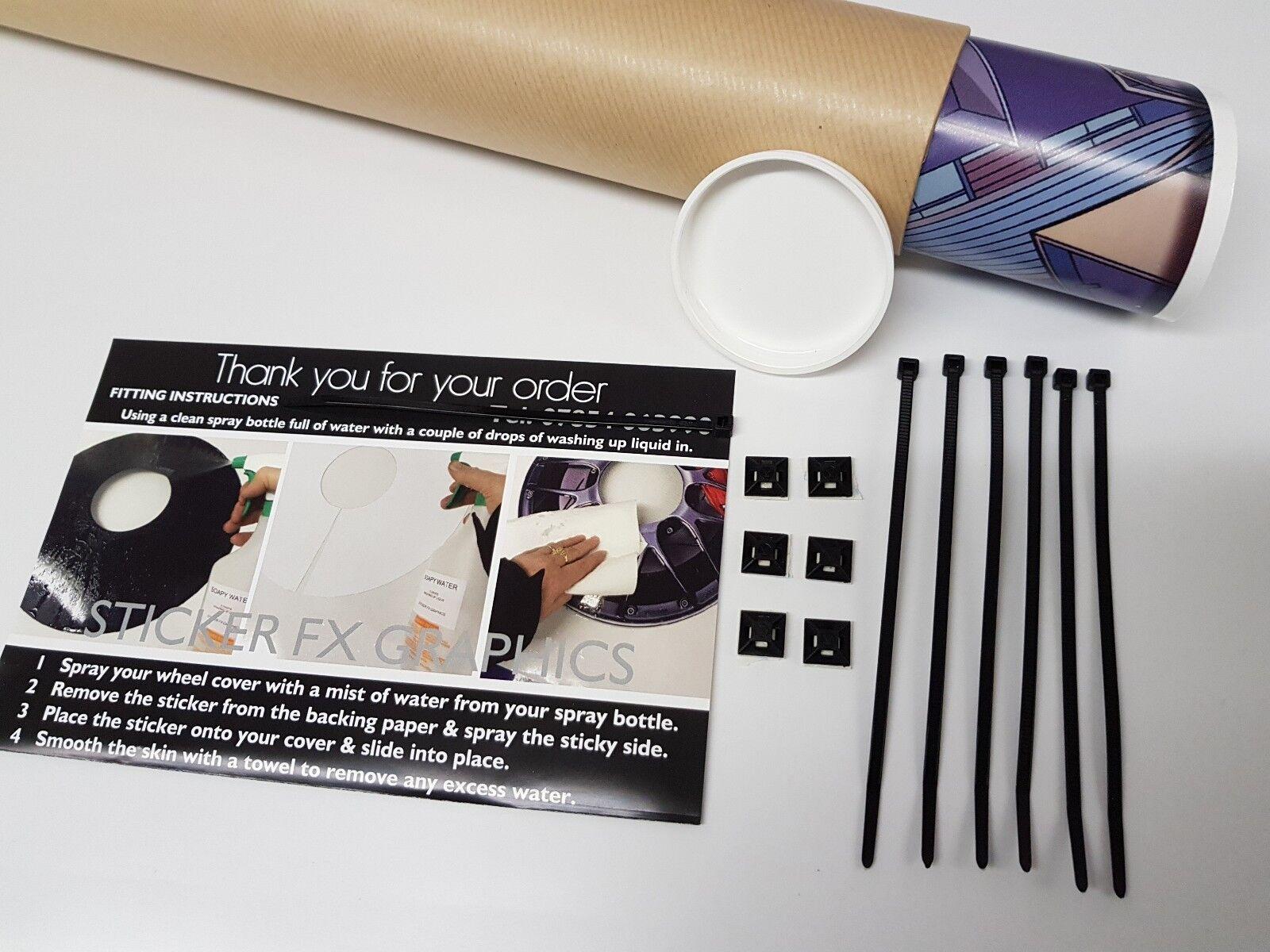 s l1600 - Cubrerradios para Silla de Ruedas Adhesivos Protecciones Opcional Personalizado