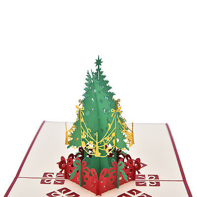 3D Pop Up Holiday Greeting Card Christmas Tree Easter Day Thank You  15*15CM AU