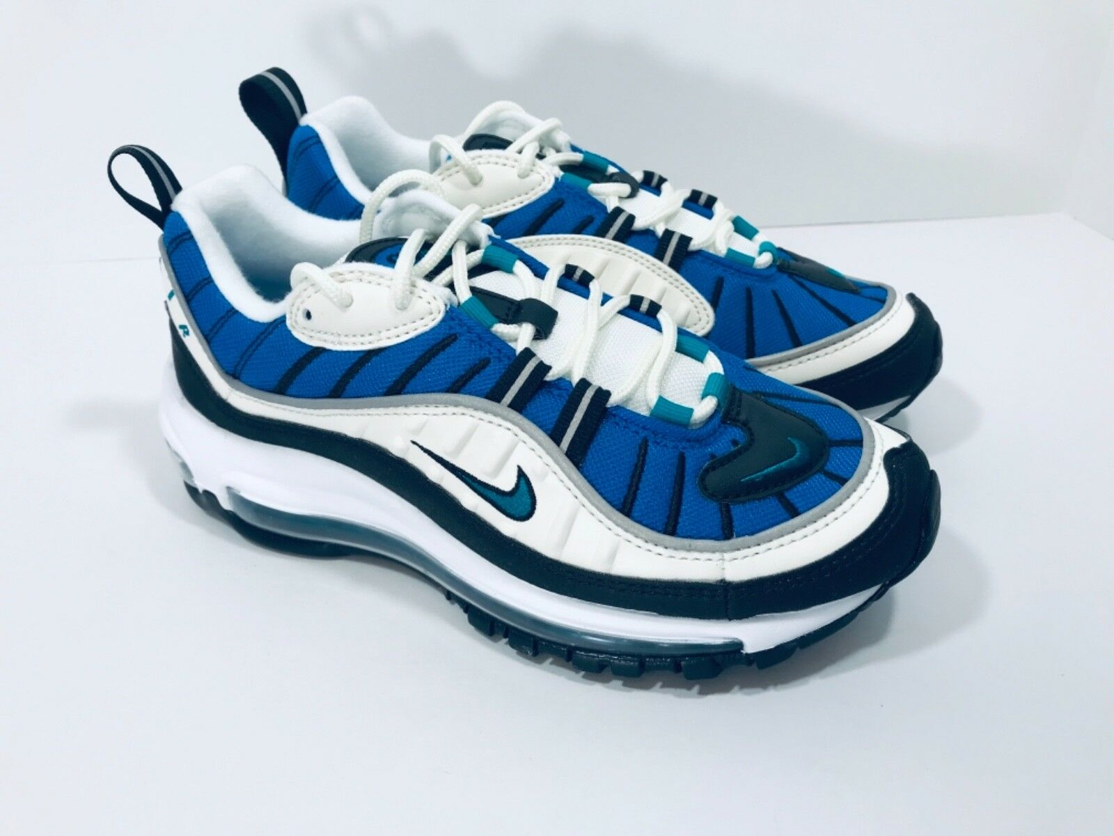 New Nike Air Max 98 Women's Select-a-Size Sail bluee Radiant Emerald AH6799-106