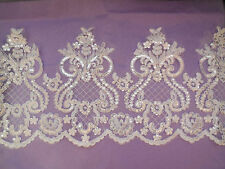 ALE02 Ivory or Black Chantilly Lace Floral Bridal Fabric Curtain 300x150cm AMZ