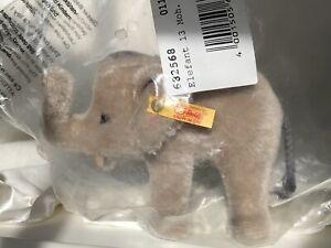 """Steiff 4-1/2"""" Mohair Elephant, #682568, FAO Exclusive"""