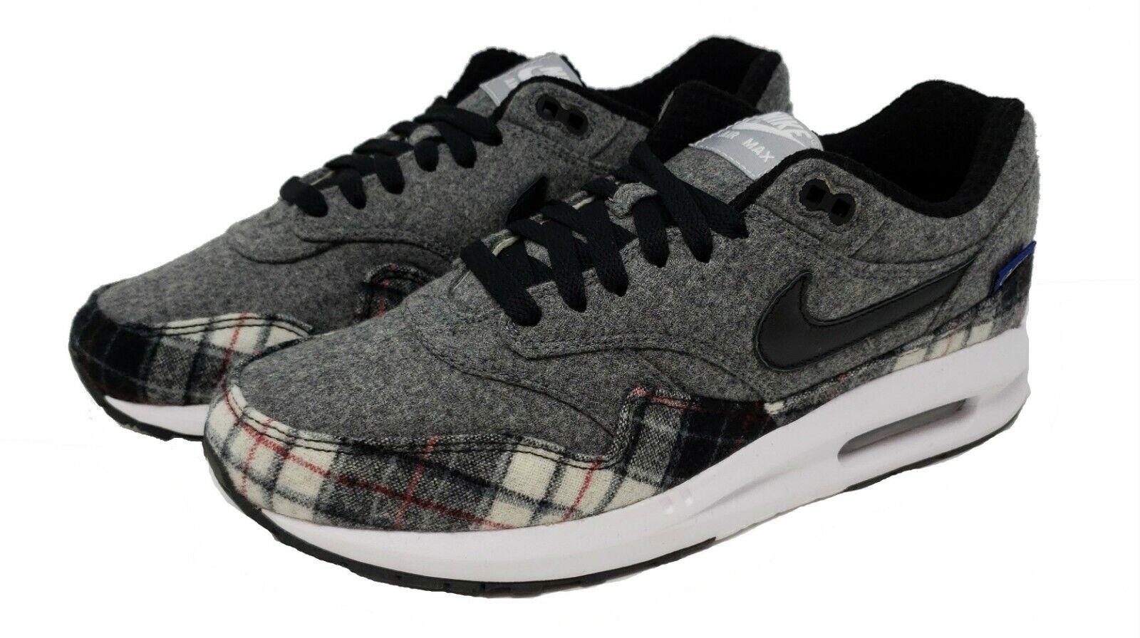Nike ID Men's Air Max 1 Premium Running shoes Sz9 NEW 744453-992 Pendleton Wool