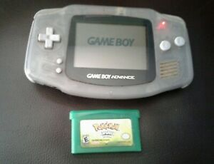 RARE-Glacier-Nintendo-Gameboy-Advance-AGB-001-Pokemon-LeafGreen-Read-Desc