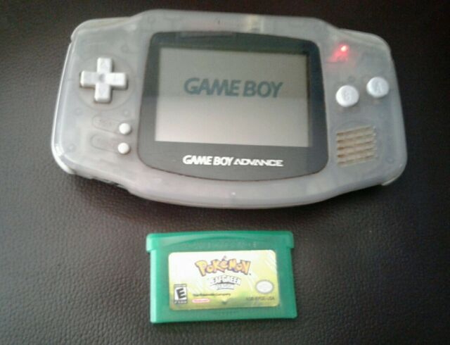 *RARE* Glacier Nintendo Gameboy Advance AGB-001 + Pokémon LeafGreen *Read Desc*