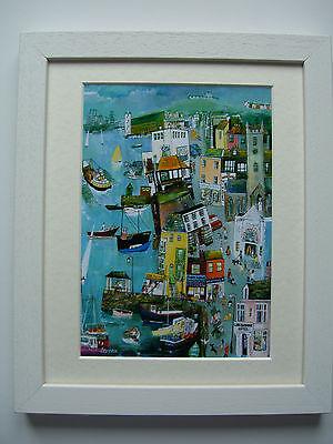 Falmouth Town Cornwall Framed Print Cornish Artist Fishing Boats Port Cruises