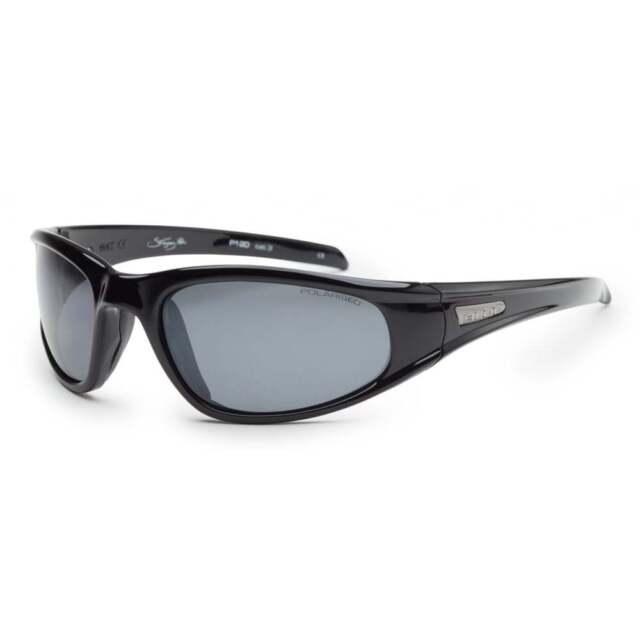 2367e9ee13d BLOC STINGRAY XR P120 Mens Womens POLARISED Sunglasses SHINY BLACK   GREY  CAT.3
