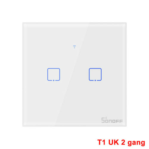 SONOFF UK 1//2//3Gang Smart WiFi Wireless Panel Touch Switch Wall Light Control