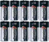 10 pc  ENERGIZER CR123 123 DL123 3v LITHIUM BATTERY CR123A CAMERA EXPIRE 12/2027