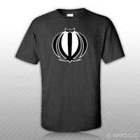 Iranian Emblem T-shirt Tee Shirt Free Sticker Iran Flag Irn Ir