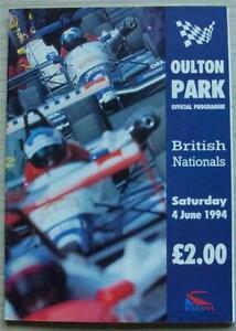 OULTON PARK 4 Jun 1994 BRITISH NATIONALS RACEDAY A4 Car Official Programme