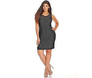 9531840fbd4 NEW Black Dress Women s 1X 16 18W 2X 20 22W 3X 22 24W Bodycon NY ...